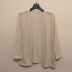 Kim Rogers white cream cardigan